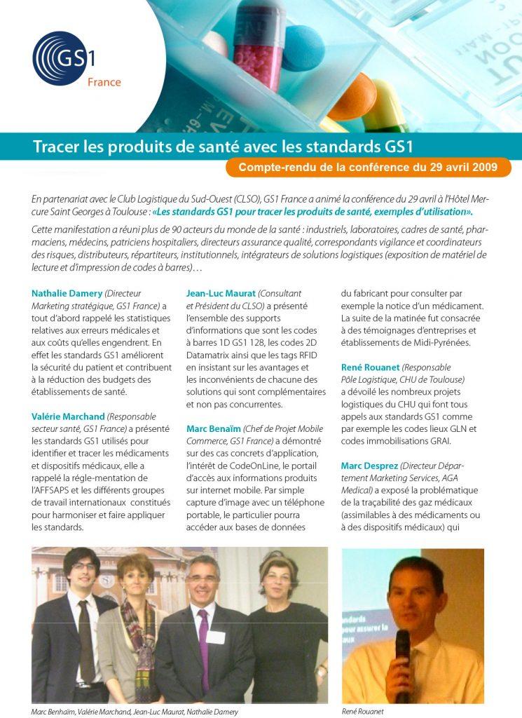 Article Tracer les produits de santé avec les standards GS1 - Opus 31 - Consultant Logistique