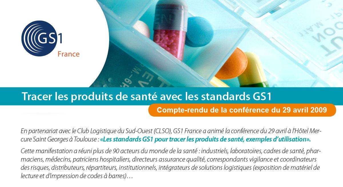 Couv Tracer les produits de santé avec les standards GS1 - Opus 31 - Consultant Logistique