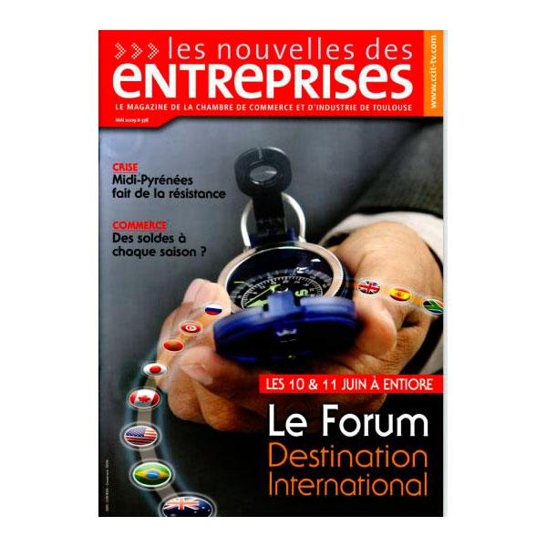 Couverture Publication Nouvelles Des Entreprises Mai 2009 - Opus 31 - Consultant Logistique