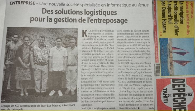 Conférence Les solutions logistiques - l'hôtel Manava, Tahiti