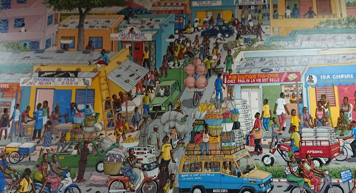 Scène de la vie urbaine à Ouagadougou